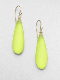 Lyst - Alexis Bittar Smooth Raindrop Earrings Neon Yellow ...