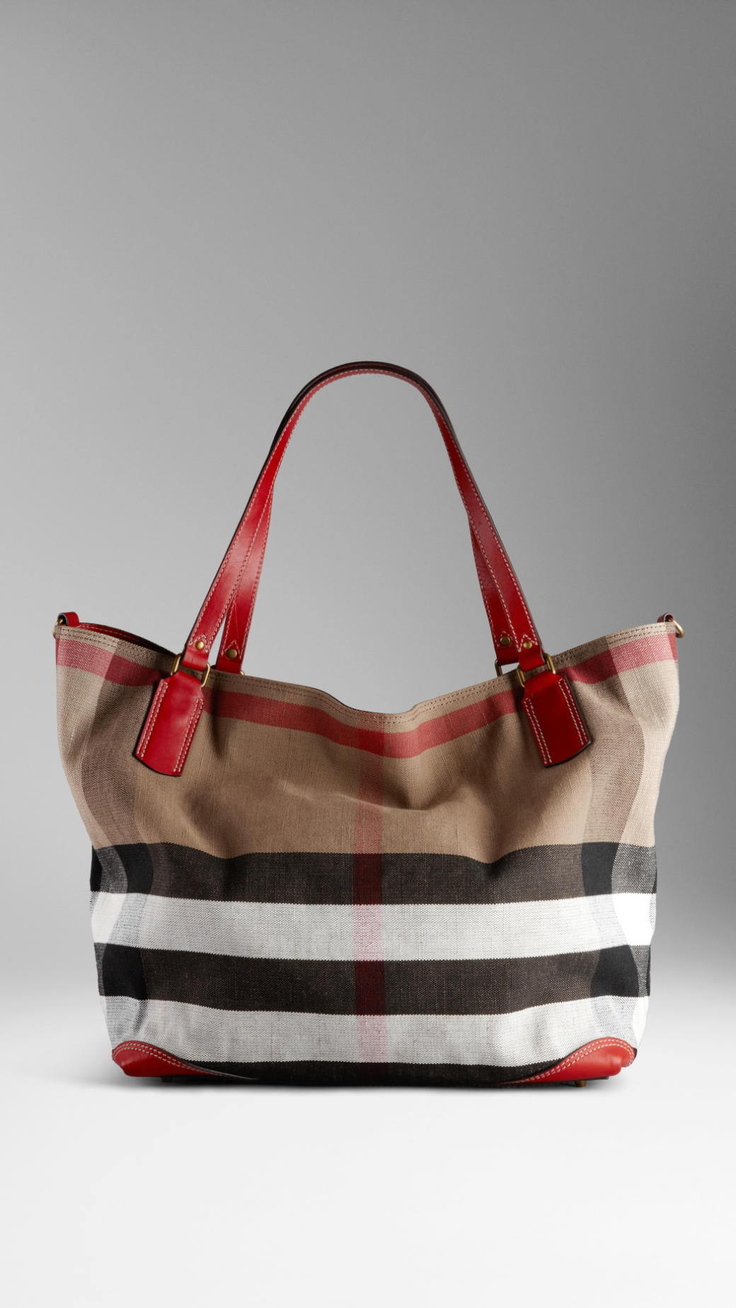 Dog Carrier Bag Lyst Burberry Large Check Canvas Tote Bag