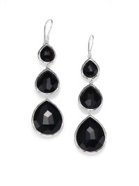 Ippolita Black Onyx and Sterling Silver Drop Earrings in