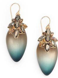 Alexis Bittar Lucite Crystal Drop Earrings in Green (TEAL ...