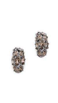 Alexis bittar Huggie Earrings in Metallic | Lyst