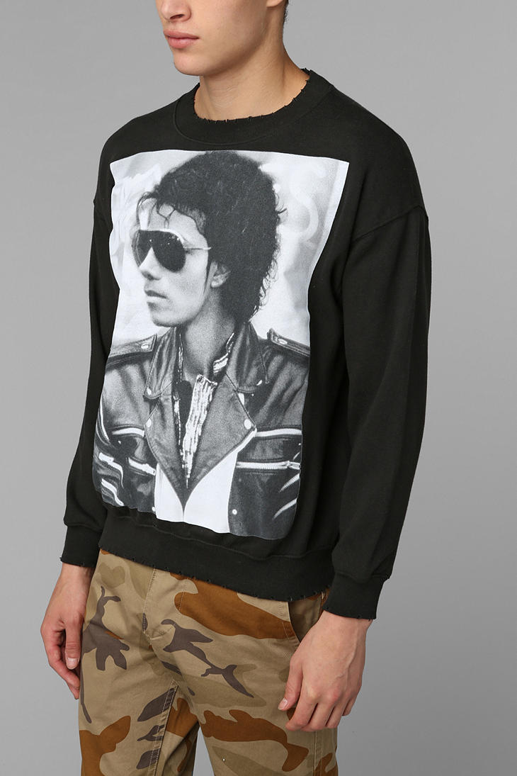 Adidas Pullover Sweatshirt Lyst Urban Outfitters Michael Jackson Bad Pullover
