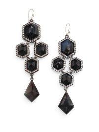 Alexis Bittar Black Banded Agate Chandelier Earrings in ...