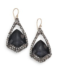 Alexis Bittar Hematite and White Quartz Doublet Earrings ...