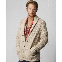 Lyst - Denim & Supply Ralph Lauren Shawl Collar Cable Knit ...