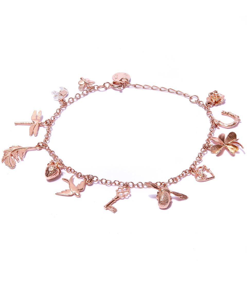 Alex Monroe Rose Gold Plated Greatest Hits Baby Charm