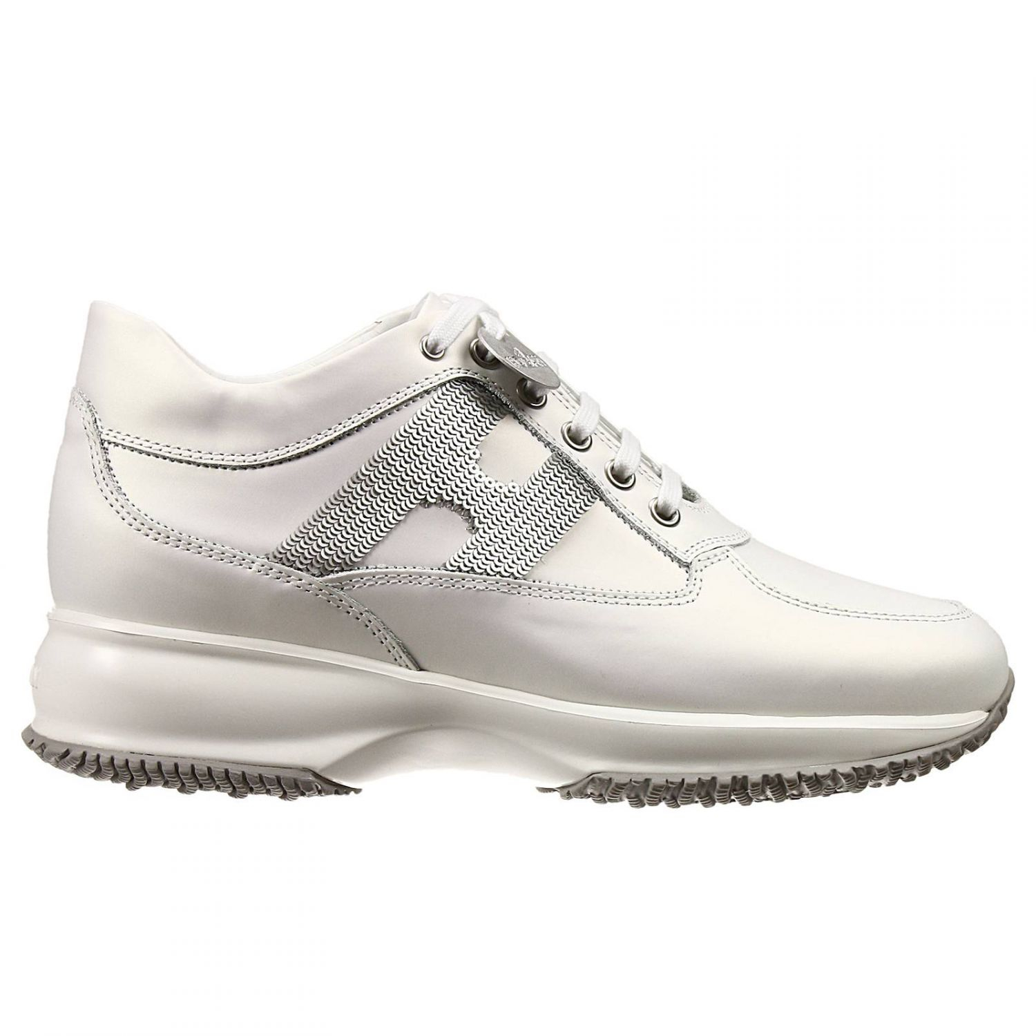 Hogan Shoes Hogan Sneakers Shoes Interactive H Pailettes Leather Gommata In