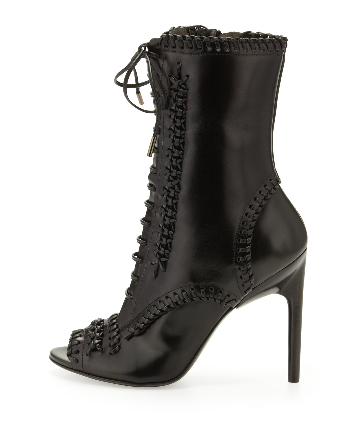 Jason Wu Laceup Whipstitch Boot In Black Lyst