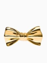 Cor sine labe doli Ceramic Bow-tie in Gold for Men