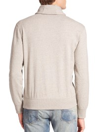 Lyst - Polo ralph lauren Shawl Collar Fleece Pullover in ...