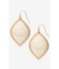 Express Filigree Teardrop Dangle Earrings in Metallic | Lyst