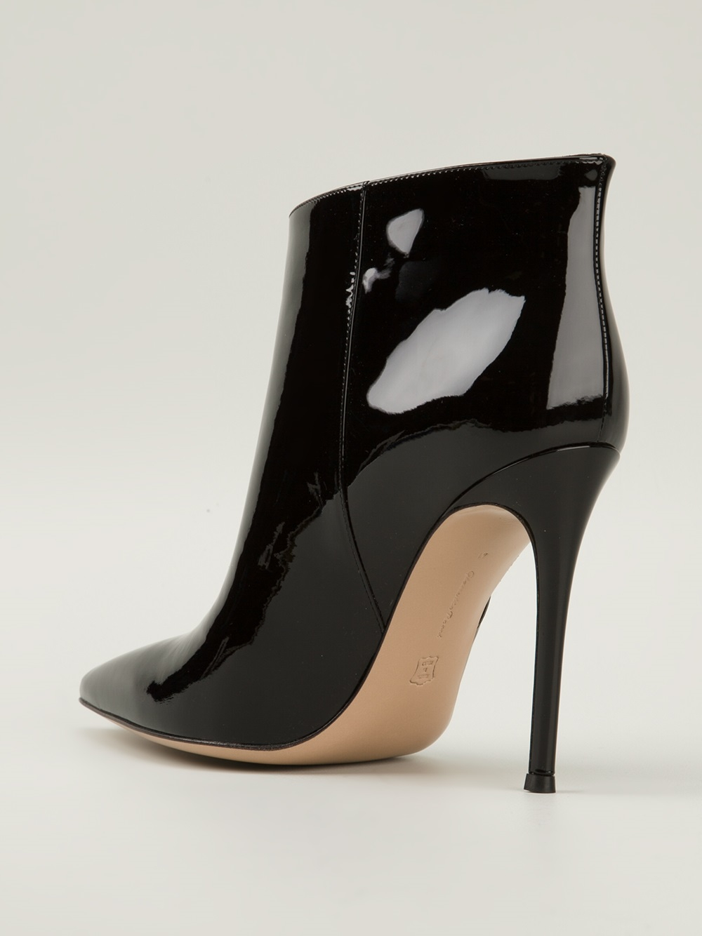 Hogan Shoes Sale Gianvito Rossi 'stilo' Booties In Black | Lyst