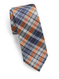 Original penguin Anton Plaid Tie in Orange for Men | Lyst