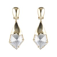 Alexis bittar Gold Liquid Crystal Clip Earring in Metallic ...