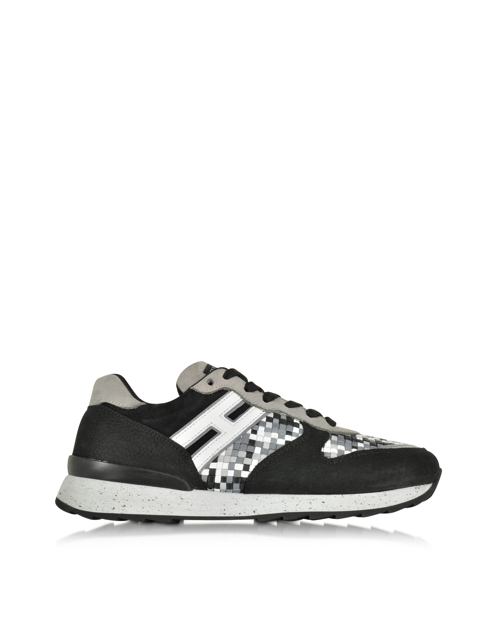 Forzieri Hogan Lyst Hogan Rebel Multicolor Leather And Suede Sneaker