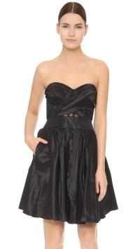 Lyst - Notte By Marchesa Strapless Cocktail Dress - Black ...