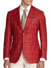 Mens Red Sport Coat Blazer - Coat Racks