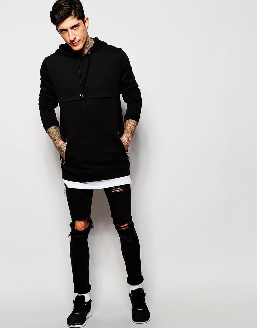 Black t shirt hoodie - Download