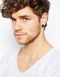 Asos Plug Earring Pack in Black for Men | Lyst