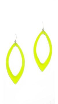 Alexis Bittar Marquis Frame Dangle Earrings Neon Yellow in ...