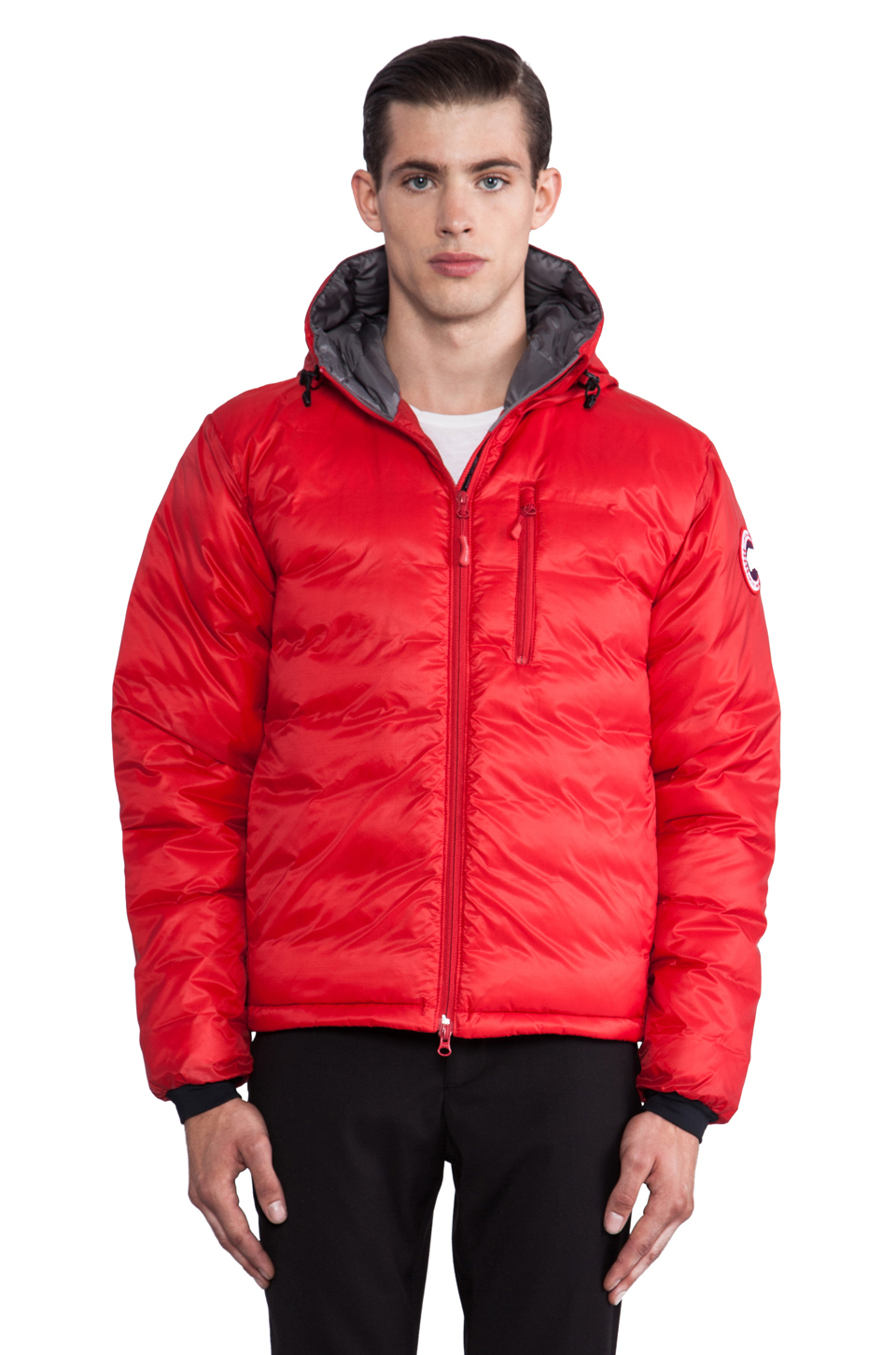 Nike Pullover Red Lyst Canada Goose Lodge Hoody In Red For Men