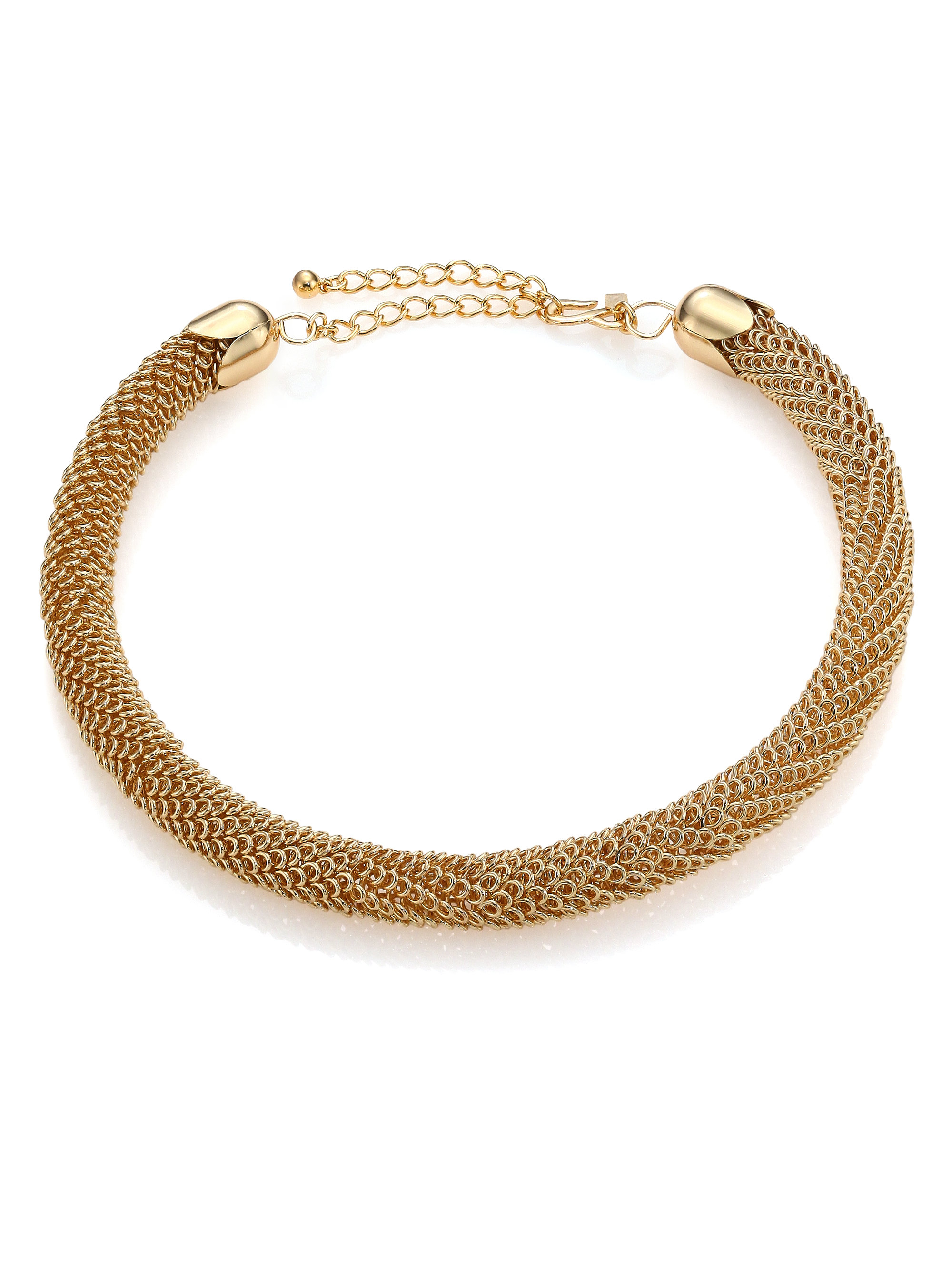 Kenneth Jay Lane Woven Tube Collar Necklace In Metallic Lyst