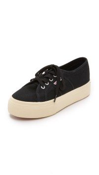 Superga 2790 Acotw Platform Sneakers in Black | Lyst