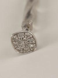 Lauren klassen Diamond Twisted Nail Earring in Metallic | Lyst