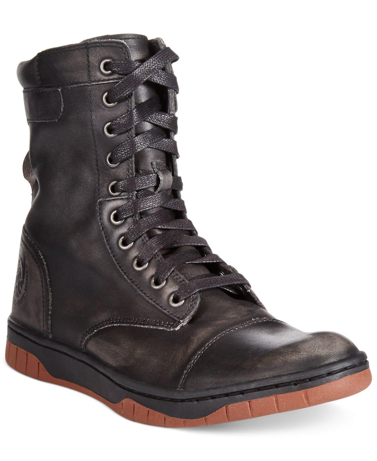 Diesel Tatradium Basket Butch Zip Boots In Black For Men