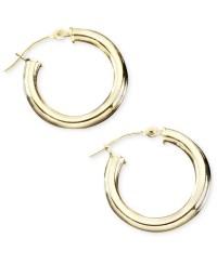 Macy's 14k Gold Hoop Earrings in Metallic | Lyst