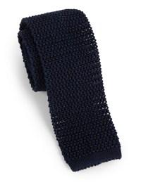 Charvet Silk Knit Tie in Blue for Men | Lyst
