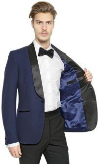 Alexander Mcqueen Shawl Collar Wool Tuxedo Jacket in Blue ...