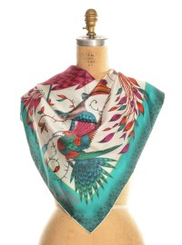 Emma j shipley Audubon Classic Silk Scarf in Turquoise By ...