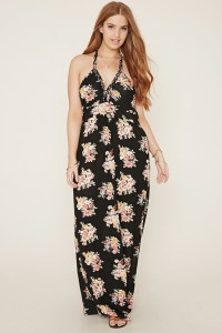 Lyst - Forever 21 Plus Size Floral Maxi Dress in Pink