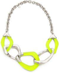 Alexis Bittar Liquid Metal 5 Link Necklace Neon Yellow in ...
