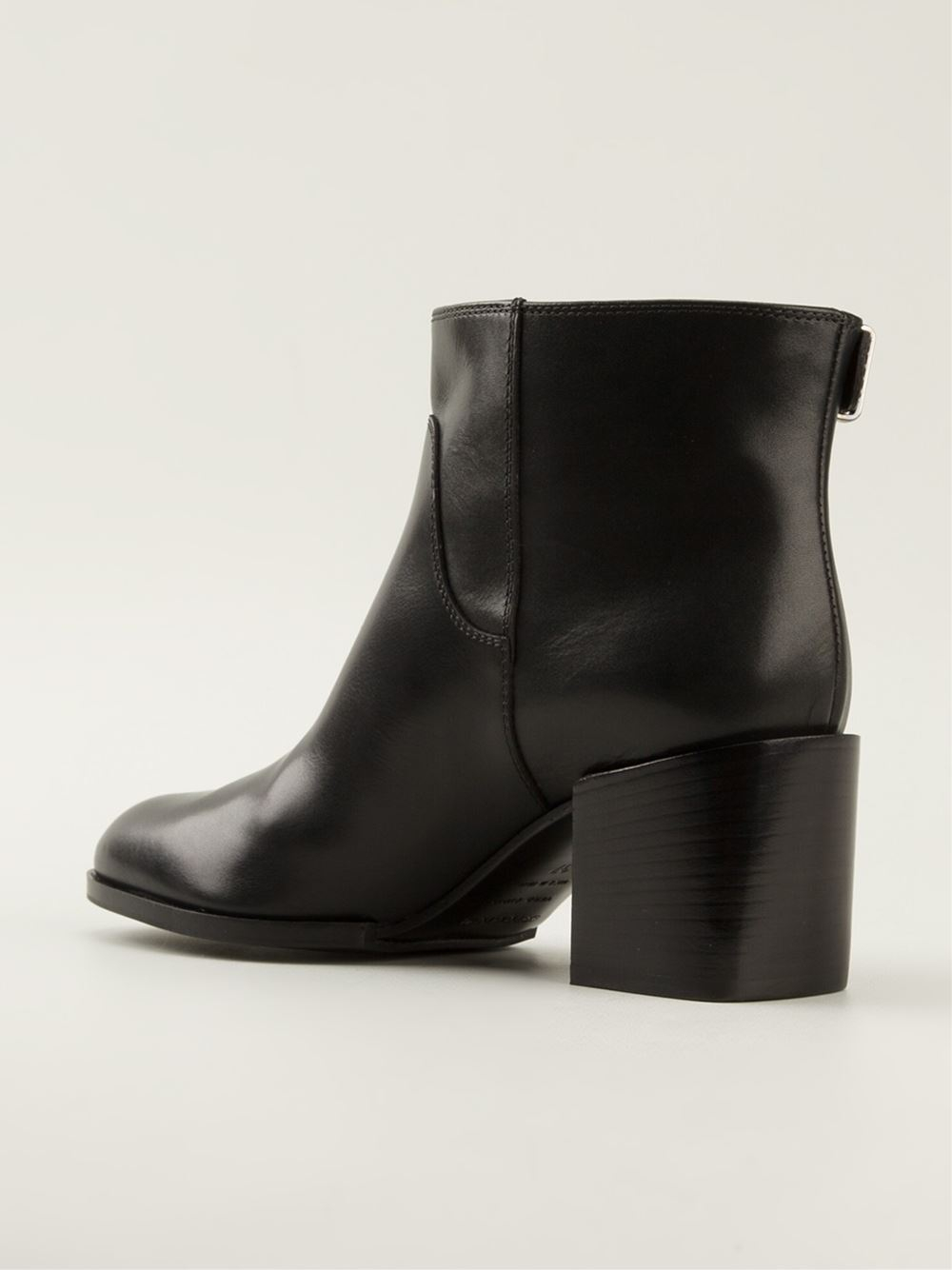 Sergio Rossi Buckled Ankle Boots In Black Lyst