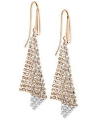 Lyst - Swarovski Rose Gold-tone Crystal Mesh Drop Earrings ...