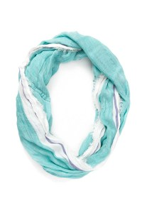 Lyst - Forever 21 Striped Infinity Scarf in Blue