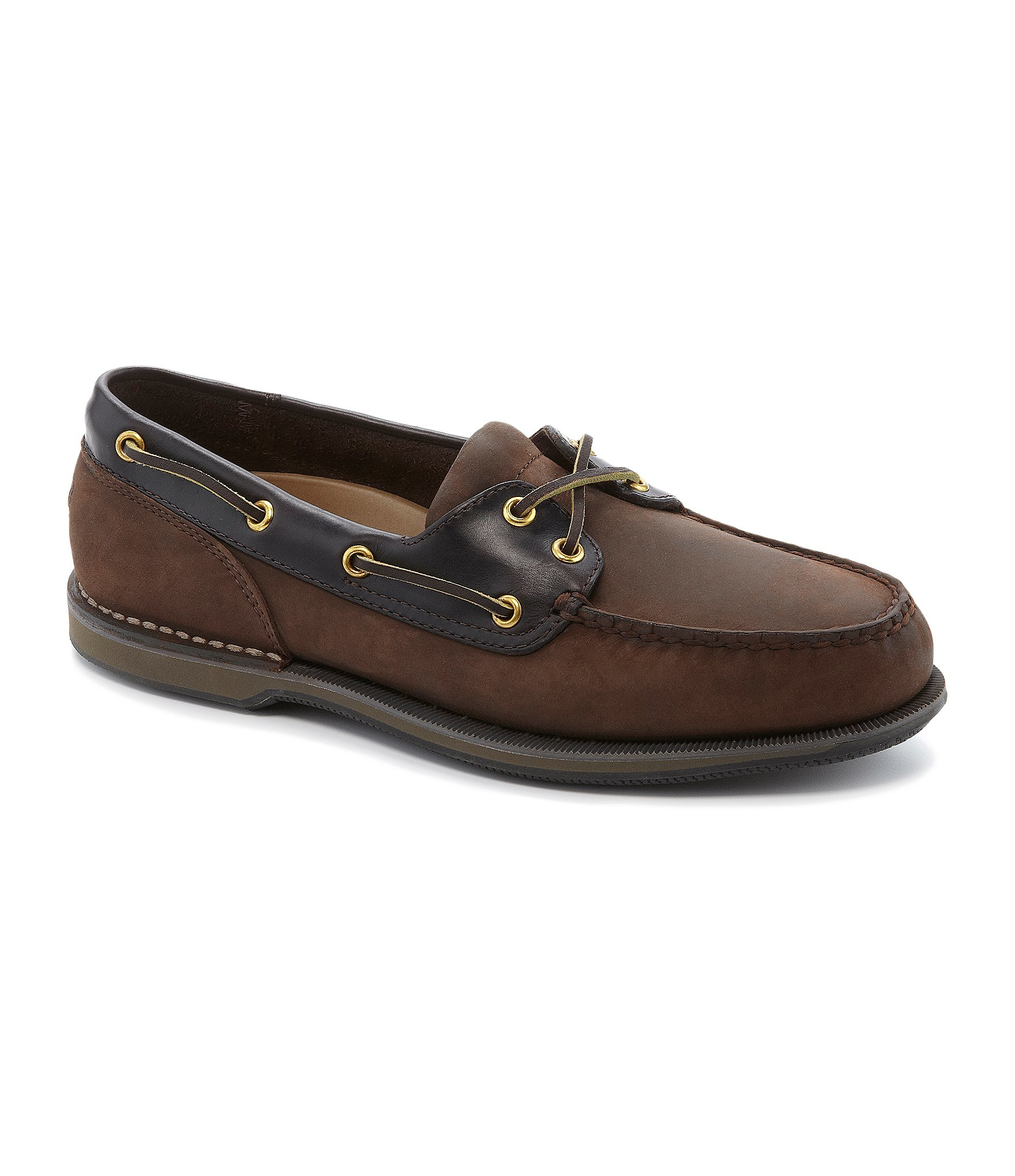 Perth Shoes Rockport Perth Casual Boat Shoes In Brown For Men Lyst