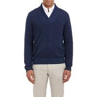 Piattelli Shawl-collar Sweater in Blue for Men (NAVY) | Lyst
