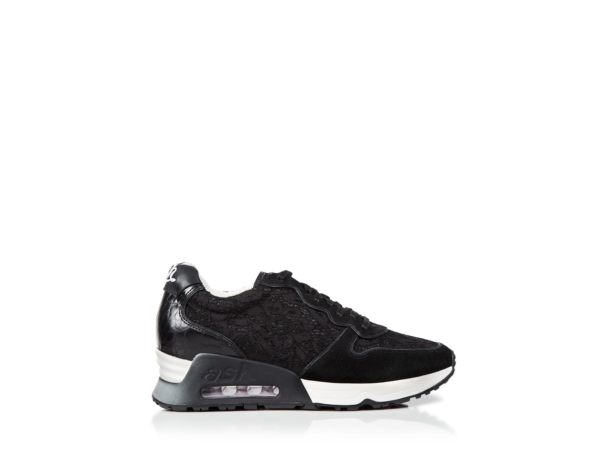 Lyst Ash Flat Lace Up Sneakers Love Lace Trainer In Black