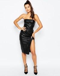 Black Strapless Leather Dress | Cocktail Dresses 2016