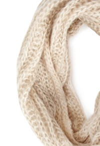 Lyst - Forever 21 Open-knit Infinity Scarf in Natural