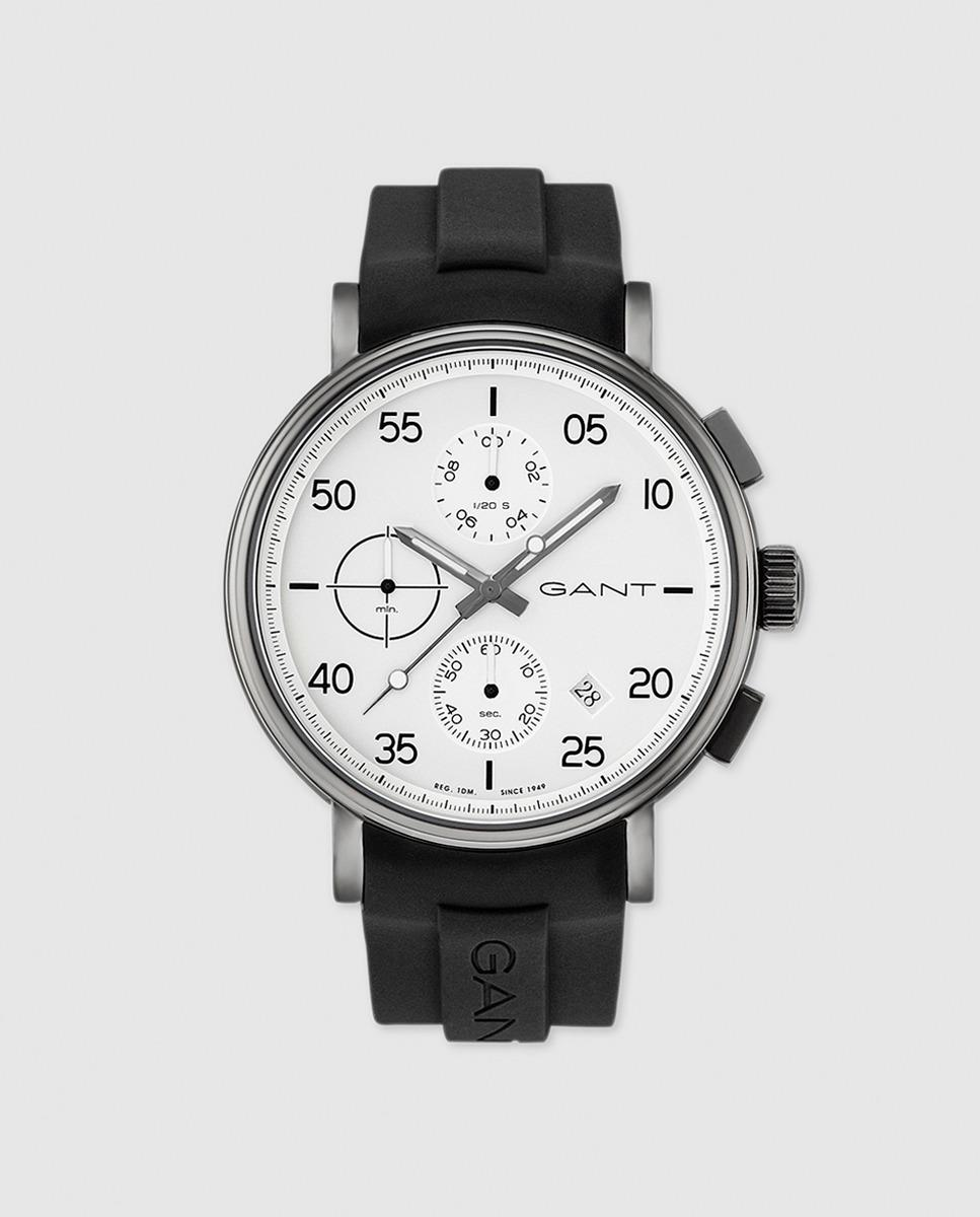Gant Silicone Lyst Gant Gt037003 Wantage Rubber Chronograph Watch In Black For Men