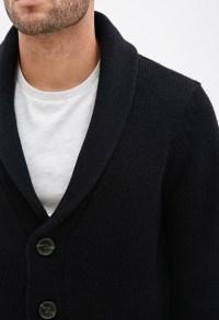 Black Shawl Cardigan Mens | Outdoor Jacket