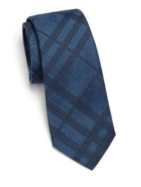 Lyst - Burberry Mulberry Silk & Cotton Tonal Checked Tie ...