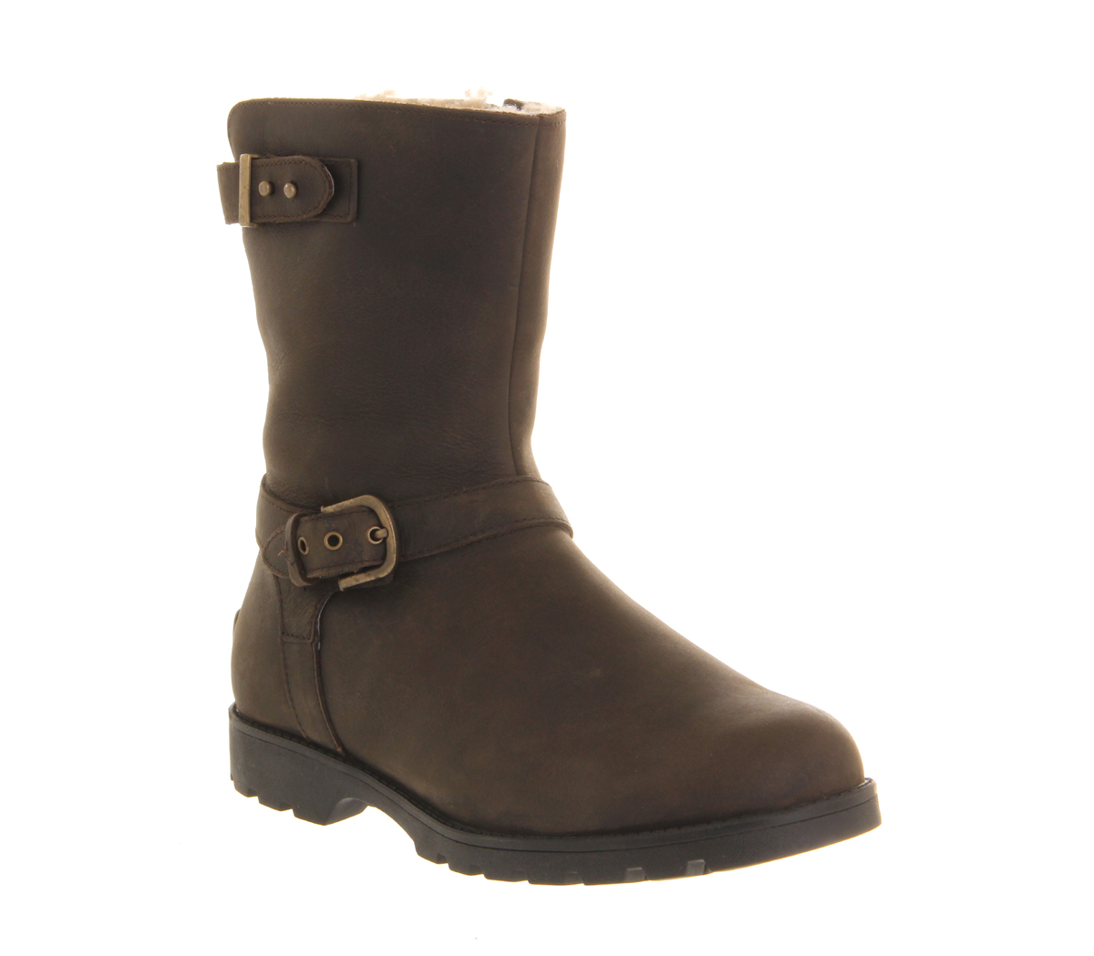 Ugg Grandle Biker Boots In Brown Lyst