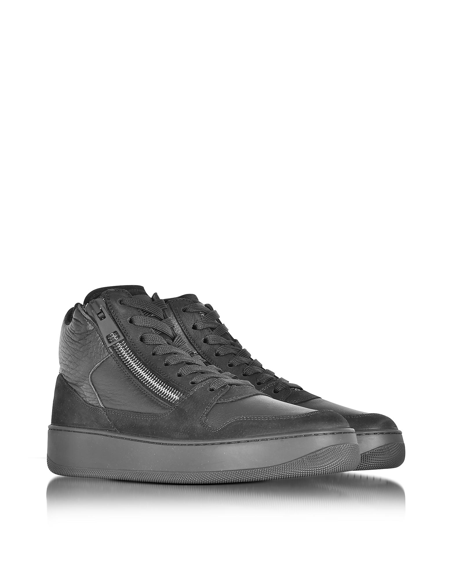 Forzieri Hogan Lyst Hogan Rebel Pure R28 Black Leather And Nubuck High