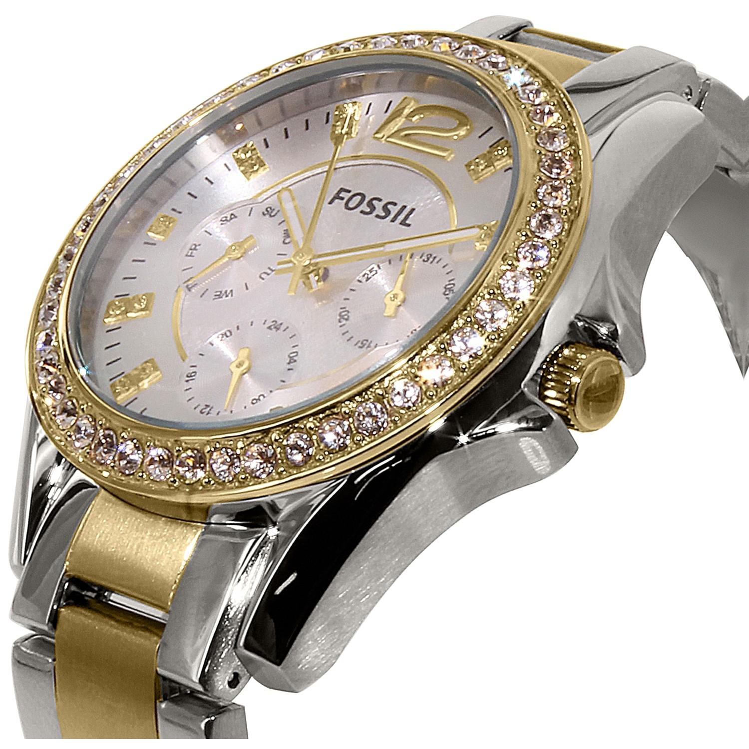 Fossil Riley Lyst Fossil Es3204 Riley Stainless Steel Watch In Metallic
