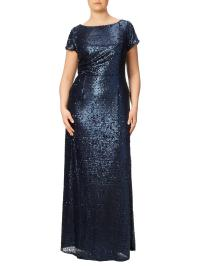 Lyst - Adrianna Papell Plus Size Long Sequin Dress in Blue
